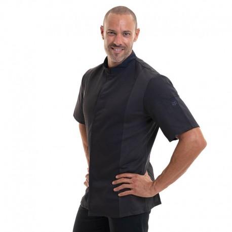 vestes de cuisine siaka noir manches courtes