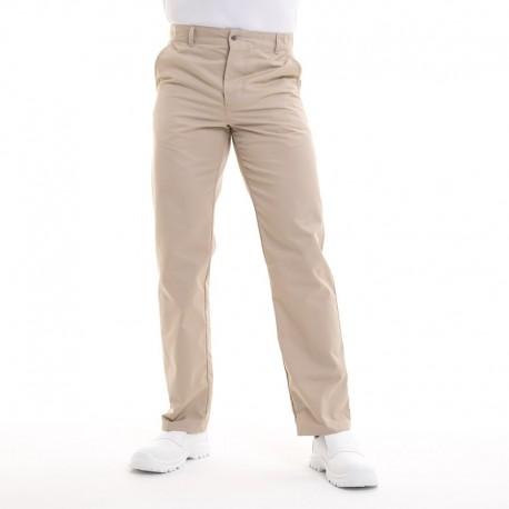 Pantalon de cuisine beige timeo robur