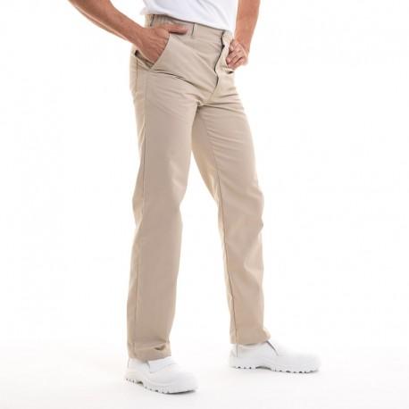 pantalon robur timeo beige pour cuisinier