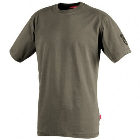 Tee shirt de travail de travail patch Marron havane CSTONE1