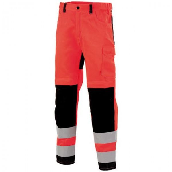 pantalon de travail haute visibilit rouge fluo lafont. Black Bedroom Furniture Sets. Home Design Ideas