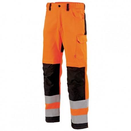 Pantalon de travail haute visibilité ORANGE HIVI/NOIR 1FLH82CP