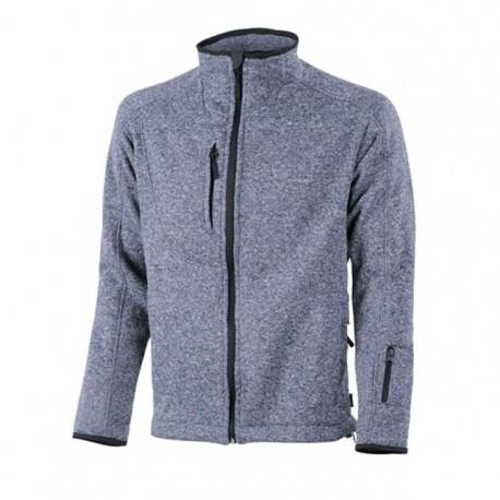 Veste de travail chinée Bleu chiné confortable et pas cher