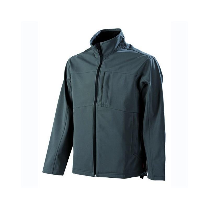 Veste de travail polaire imperméable Softshell Homme Gris charbon confortable et bas prix