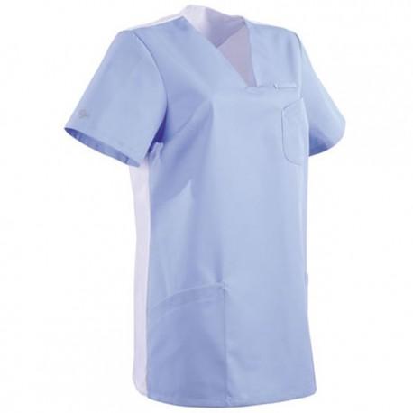 Tunique médicale bleu ciel et blanche 2MAT