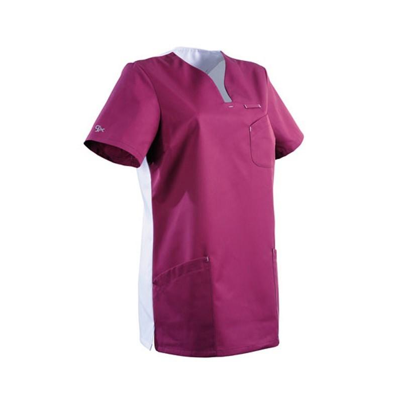 Tunique médicale rose et blanche 2MAT