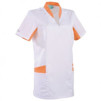Tunique médicale blanche orange 2LAU