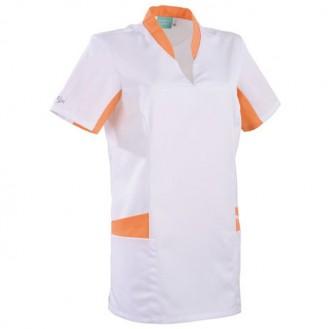 Tunica sanitaria bianca e arancione 2LAU