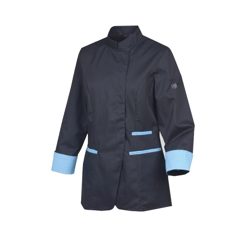 Veste de cuisine femme Robur Ria bleue