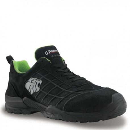 Chaussures de sécurité Turf S1P SRC, upower représente efficacité, dessus en cuir