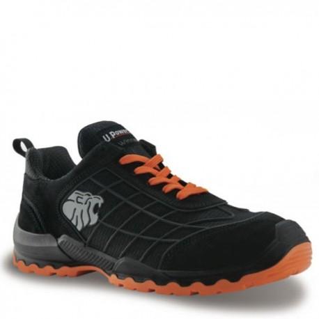 Calzature antinfortunistiche nero e arancioMatch S1P SRC