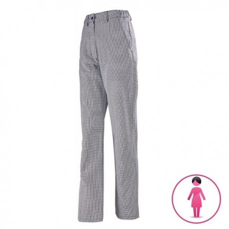 Pantalone da cucina per donna pied de poule