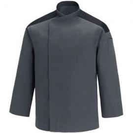 Veste de Cuisine grise - First, manche longue, tissu agréable