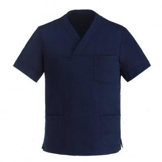 Tunique médicale bleu marine col V manelli