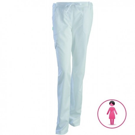 Pantalon médical Juliette blanc