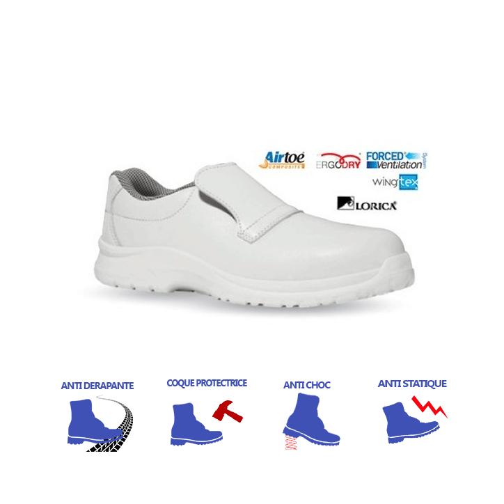 scarpe di sicurezza da cucina bianche cat s2