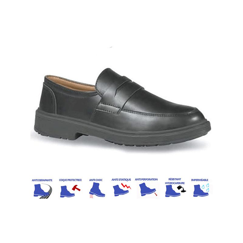 Chaussures de cuisine s3 noire l g re - Chaussures de cuisine ...