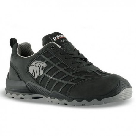 Chaussures de sécurité noire Dribbling S3 SRC, noire aspect sobre. Coque protection sécurité