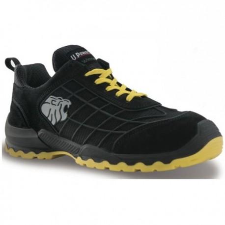 Chaussures de sécurité Time S1P SRC, bicolore noir et jaune, stylé et design