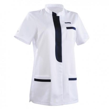 Tunique médicale 2KIM blanc & bleu marine