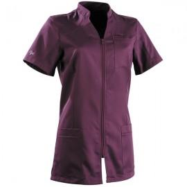 Blouse médicale 2SAN violet femme manche courte pas cher