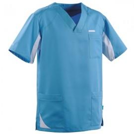 Tunique médicale homme 2SAH bleu ciel