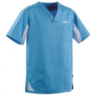Casacca da medico per uomo 2SAH azzurra