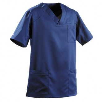 Casacca da medico per uomo 2SAH bianca e blu marino