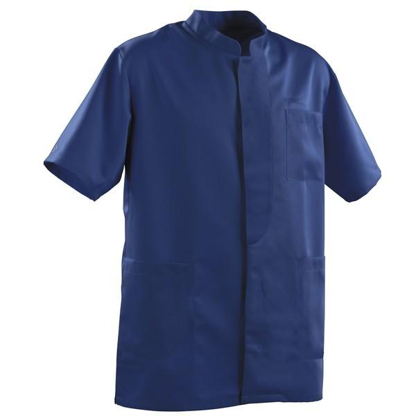 Blouse médicale homme 2LEE bleu marine manches courtes pas cher promotion