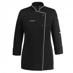 Veste de cuisine noire liseré blanc ML
