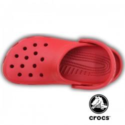 Sabot médical Crocs beach rouge