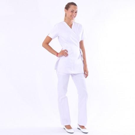 tenue estheticienne apprenti blanche
