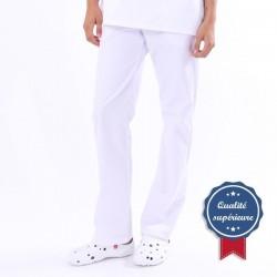 Pantalon médical Blanc Manelli (réglable)