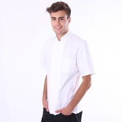 Tenue complète de cuisine pour apprenti, avec pantalon, veste, toque, tout pour bien commencer !