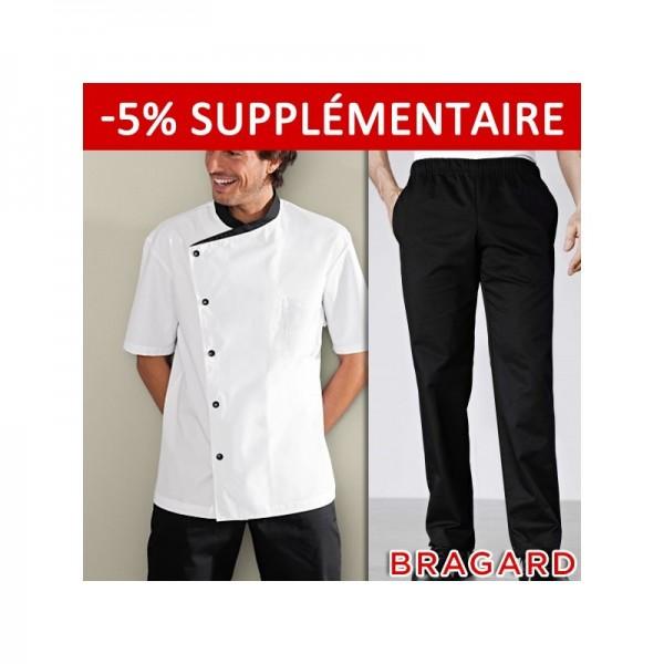 Vetement bragard veste de cuisine bragard for Pantalon de cuisine bragard