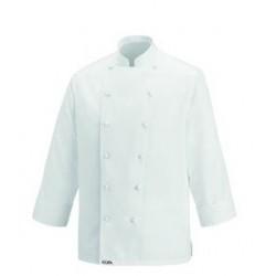 Veste de boucher blanche