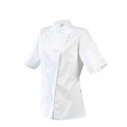 Veste de Cuisine Femme Blanche Fermeture Asymétrique