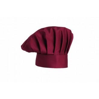 Cappello da cuoco bordeaux