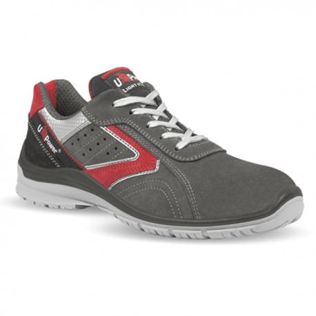 Chaussures de sécurité Passion S1P. Gris et rouge. Simple et sobre respectant les règles de sécurité.