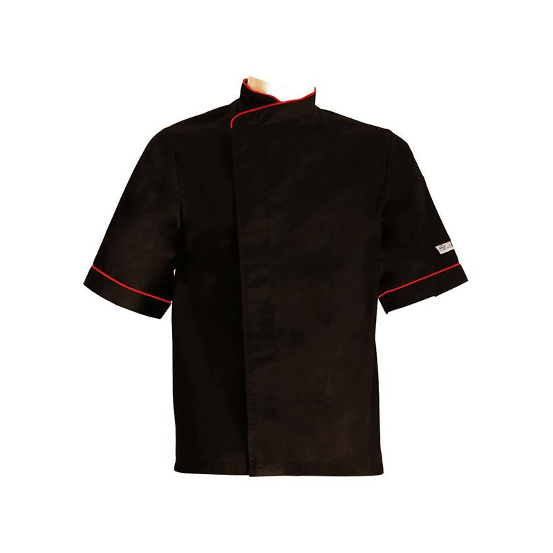 veste de cuisine grande taille lisere rouge