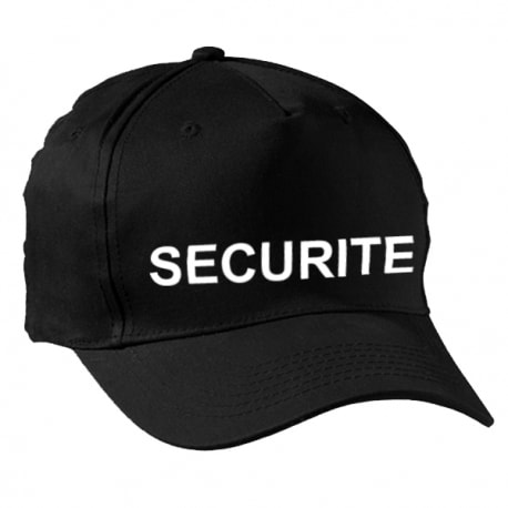 Casquette agent de sécurité