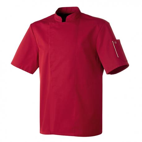Veste de cuisine bordeaux, manches courtes idéal pour fortes chaleurs