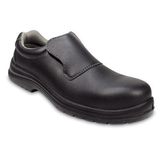 Chaussures de Cuisine noir avec coque de sécurité en composite