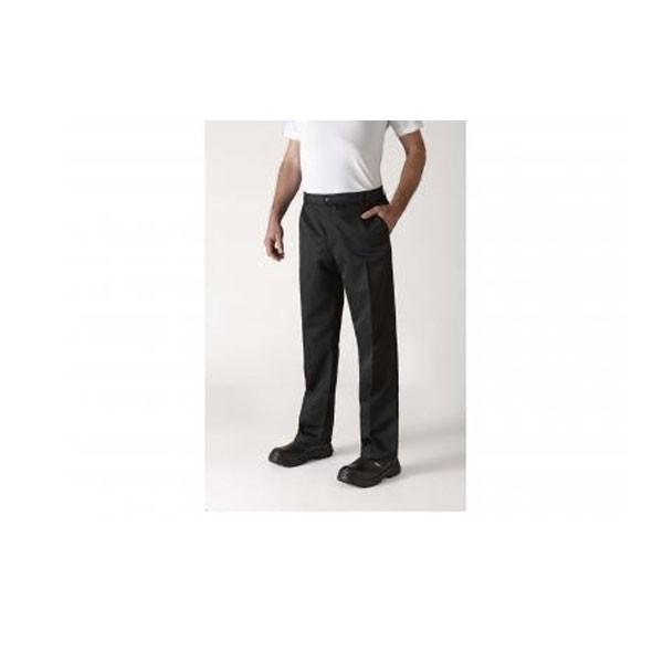 Pantalon de cuisine pince noir robur for Pantalon cuisine noir