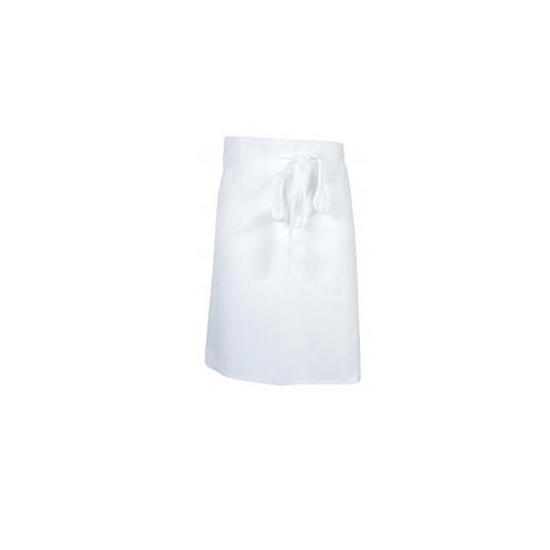 Grembiule bianco da aiuto cuoco 60 cm - Robur