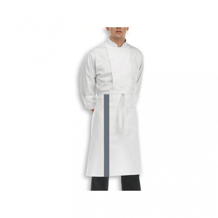 Tablier blanc blande couleur - 70cm