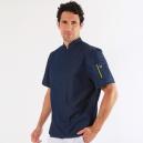 Veste de cuisine en jean - Nero Robur manches courtes