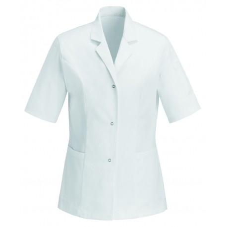 Blouse Médicale Blanche 100% Coton manches courtes