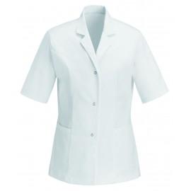 Blouse Médicale Blanche 100% Coton pas chère feme