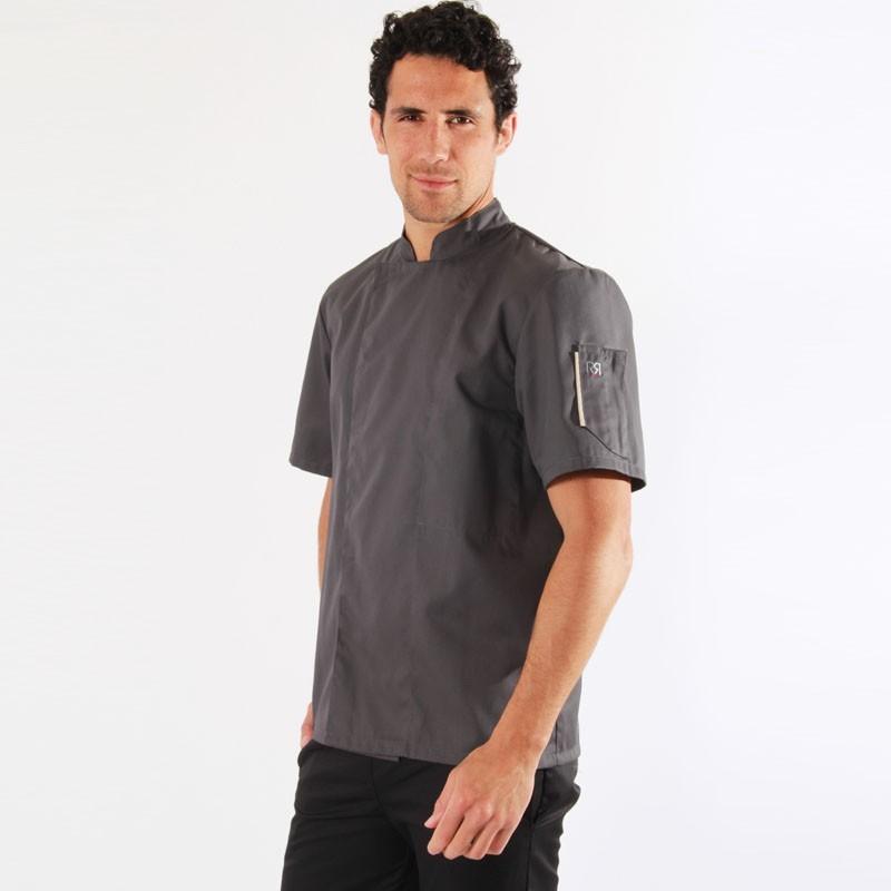 Veste de cuisine grise Nero - Robur, veste pour cuisinier